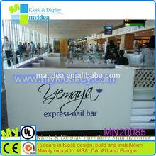 Attrative nail polish display stand/high end mall nail polish display stand/modern beauty salon design