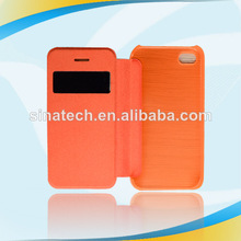 foldable factory price 2012 new dual layer shutter stripe case for apple iphone 4 4s