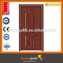 2014 china molded melamine main door design solid wood