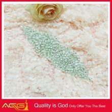 AB Stone Crystal Rhinestone Applique Silver Settings beautiful classic bright shinning bridal garter