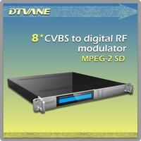 (DMB-9580-8) 8 channels rf modulator/2014 New design 8 channels rf modulator for convert up to 8 CVBS to digital US Clear QAM