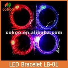 Promotional!!mix colour sound actived led bracelet,led light up bracelet color changing led bracelets,glow stick bracelet