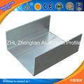 Gran! U de aluminio barandilla del canal/barandilla de vidrio u perfil/de aluminio anodizado de aluminio arandelas de tamaños de canal
