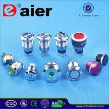 Daier 16mm push button switch anodized aluminum
