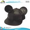 Fashion 2014 Custom Black Leather Snapback Caps And Hats Plain