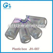 Transparent PET or PVC wall mounted acrylic plastic storage box