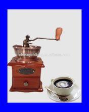 Manual burr Coffee Grinder, Bronzed metal, coffee maker