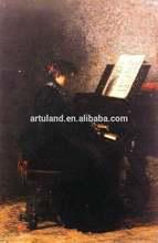 100%Handmade musical instrument oil painting of Eakins Thoms