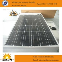 A-grade& high efficiency 75W poly solar panel solar panel price in india is lowest with TUV CE certificate