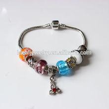 2014 Snake chain bracelet fashion charm bracelet with pandora beads