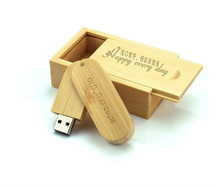 Fashion Wedding gift wooden usb with box, natural wooden usb stick, wedding gift usb memory