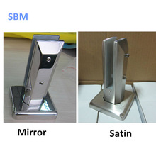 Stainless steel handrail accessorie mini post stainless steel glass clips base plate glass spigot