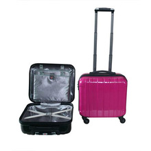 "2014 good PC ABS 14"" Luggage Trolley Case"