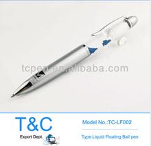 Promotional plastic liquid floating ball pen TC-LF002