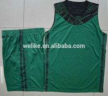 Reversible basketball uniform green basketball jersey design wholesale athletic wear