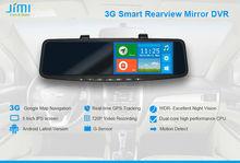 JiMi 2014 New 3G Smart Rearview Mirror DVR radar detector with car dvr camera