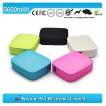 2014 Popular Portable External 2 USB Battery Case