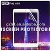 PET material clear screen guard for ipad mini screen protector