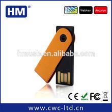wholesale promotion gift swivel usb flash drive, free logo metal mini pormo usb pen drivers