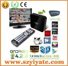 Sunchip S806 Android TV Box Amlogic MX2 S802 8G/16g Quad core Mini PC Google tv media digital azbox smart tv