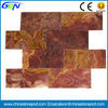 Red Onyx Marble Tiles With Yellow Vein