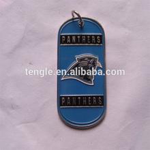 blue metal dog tag/metal panther dog tag/animal dog tag