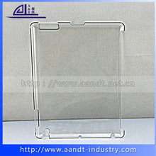 Beautiful slim crystal clear pc case for ipad 234