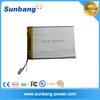 high quality 327398 3.7v 3000mah li polymer battery for GPS/tablet
