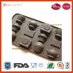Clock Tea Cup Silicoolsone Chocolate Ice Candy Decorating Mold Kitchen Cooking T