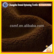 100%polyestrer brown 0.5-3mm short pile coral velvet fleece fabric for blanket