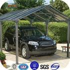Aluminum frame polycarbonate solar carport