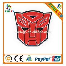 2014 new custom car logo ,decorate car emblems ,Transformers car decorate badge
