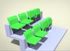 Best Sold Folding Fixed Seat Plastic Stadium Seat