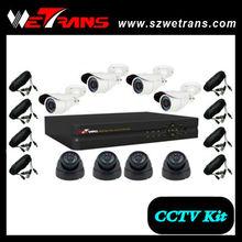 Shenzhen Wetrans DIY 8CH Camera and DVR kit H.264 complete cctv camera set