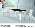 Mediados del siglo moderno muebles de vidrio base de madera para mesa de comedor