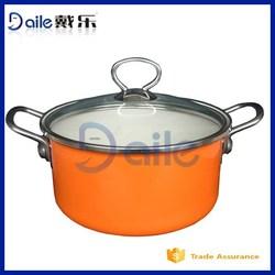 5pcs casserole pots and dishes/porcelain enamel cookware sets/steel india pot cookware