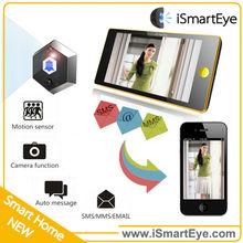 calendar clock smart home system peephole door wifi camera video call at the door video door phone with gsm