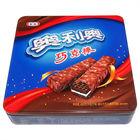 Square oreo cookie tin box/cookie tin can