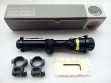 High power long eye relief fiber riflescope red dot sight
