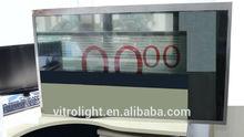 Atractivo neveras con un lcd transparente como de la puerta