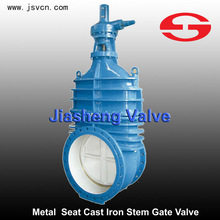 Metal Seat Cast Iron Non-risng Stem Gate Valve In Wenzhou