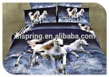 Cheap polyester running horses printed 3d bedding set