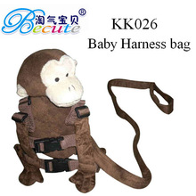 Safety Harness Buddy Kid Keeper Plush monkey Baby Carrier Wholesale