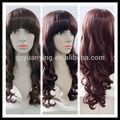 alibaba atacado moda longo do vinho vermelho curly hair perucas para mulheres fashon