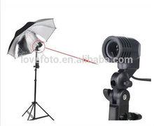 E27 Socket CFL Mount Soft Reflective Umbrella Lamp Light Holder for Stand Studio