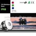 white blue 24v ip68 316L stainless steel underwater led lights for yacht lighting