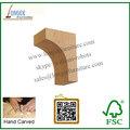 Qualificado suporte suporte de prateleira suporte de madeira sólida simples