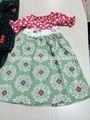 nova chegada yawoo crianças vestuário boutique floral impressão vestidos para meninas 11 anos granel atacado crianças vestido de algodão