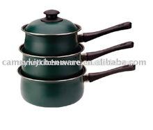 6pc nonstick steel sauce pan set