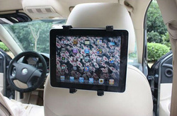 Unviersal popular promotion items plastic car headrest tablet stand holder, car headrest seat rotate for ipad 2/3/4/ 5/air /mini